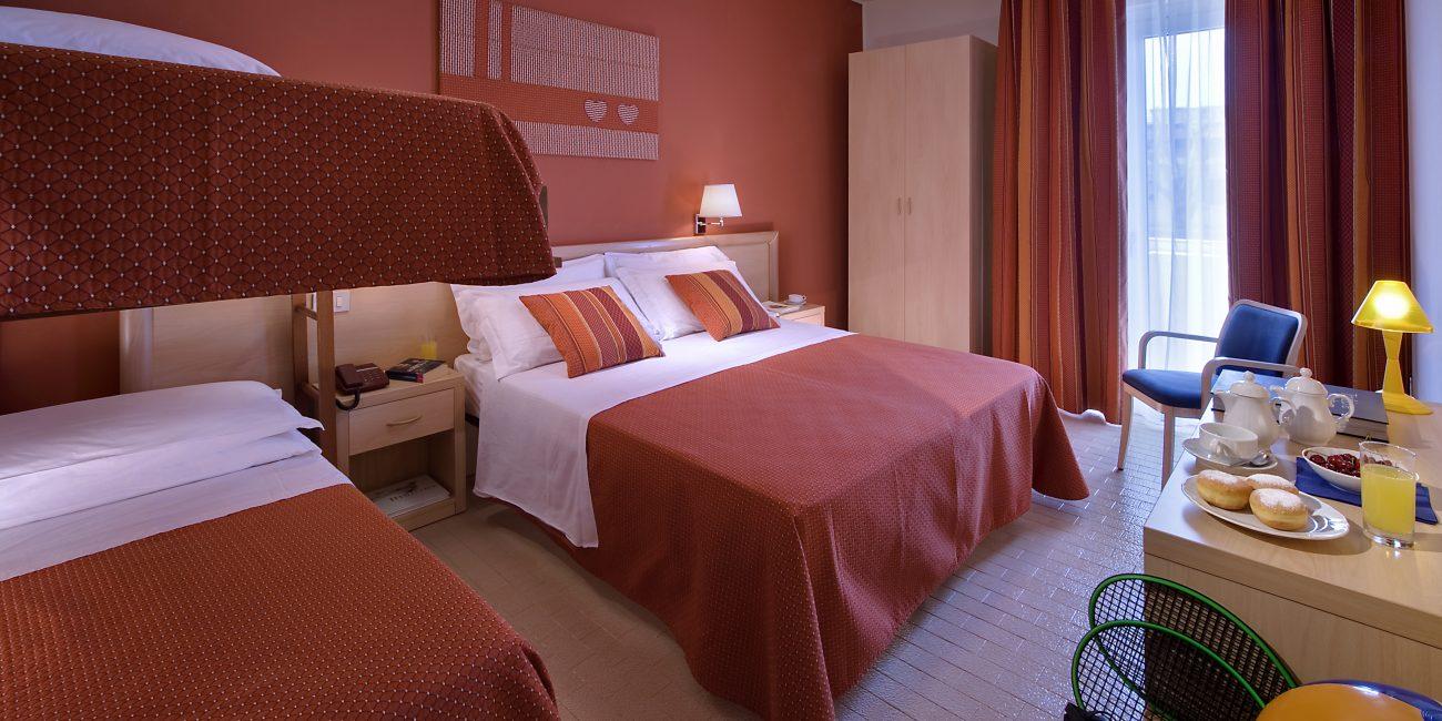 Le camere familiari dell'hotel Renania