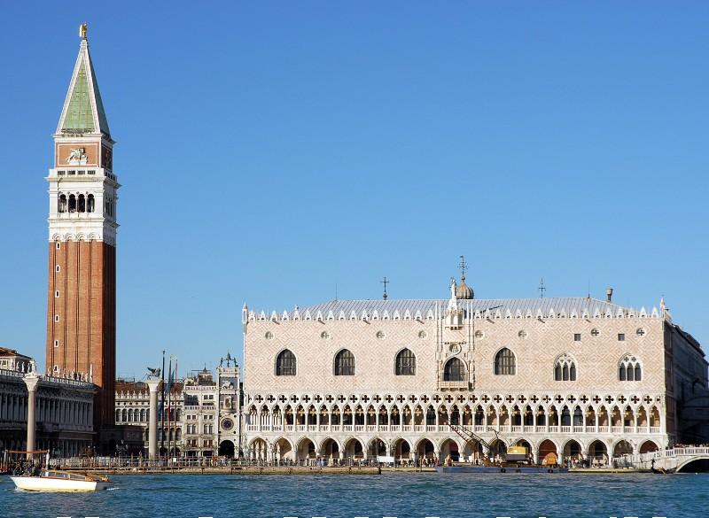 Il Palazzo Ducale e il Campanile di San Marco a Venezia